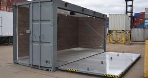 склад от морски контейнери за машини